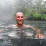 Nach ein paar Tagen ohne Dusche kamen uns die Liard Hot Springs