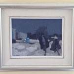 'Winter Walk' - Bruno Bobak, Oil on  canvas 7 X 9 inches- Inquire at Info@PerivaleGallery.com or (705) 377-4847
