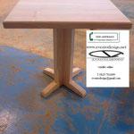 piano tavolo 80x80x3 art m89