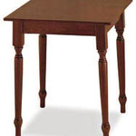 tavolo quadrato 60x60-70x70 gamba tornita art.45