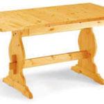 T/300 tavolo con  allunga pino art 678 130/170x80x3