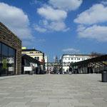 Blick vom Hauptbahnhof Döppersberg zur Schwebebahn
