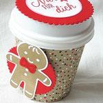 Eine wunderschöne Verpackung aus einem Espresso-to-go-Becher von Christina Dannat - http://christinasstempelwelt.blogspot.de/