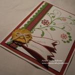"""Einladung mit dem Stempelset """"Flowering Flourishes"""" - den Text habe ich in dem Stampin Up Programm """"My Digital Studio"""" geschrieben!"""
