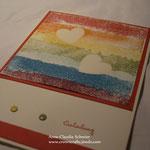 Thema: Gott ist Liebe... - Druck mit Malerkrepp!