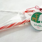 Leckere Zuckerstange hübsch verpackt - aber ohne Namens- und Blogangabe!
