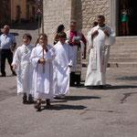 Il parroco di Montelongo don Giovani Licursi