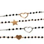 Bracciali rosario con inserti