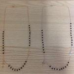 Collana rosario argento e onice modello Emma