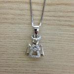 Collana argento con angioletto zirconi