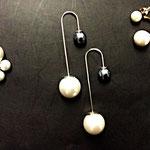 Orecchini doppie perle