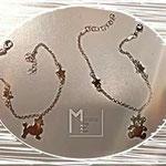 Bracciali moda argento con soggetti