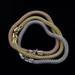 Bracciali argento maglia coreana 3 colori