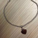 Bracciale palline argento e cuore charms