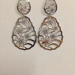 Orecchini pendenti lastra argento rodiato