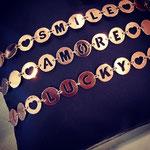 Bracciali personalizzabili argento rosè