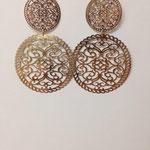 Orecchini pendenti lastra argento rosè