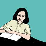 Anne Frank illustriert von Moni Port