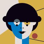 Sophie Taeuber-Arp illustriert von Zuni und Kirsten von Zubinski