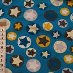 21 Türkis Blau mit Sterne