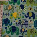 8b   hellblau Elefanten