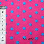 6 Pink - Hellblau Punkte