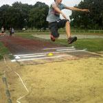 Johann als Überflieger