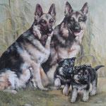 Hunde handgemalt