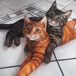 Katze handgemalt