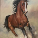 Pferd handgemalt