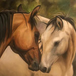 Pferde handgemalt