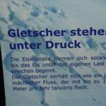 Gletscher stehen unter Druck