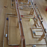Bauklötze Holzbausteine LABAU Bahnen