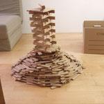 Bauklötze Holzbausteine LABAU Turm
