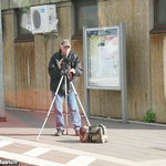 Reinhold verfolgt mit seiner Kamera die Sonderfahrt, woraus später das auf YouTube zu sehende Video produziert wird