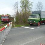 Bahnübergang Werlaburgdorf - Museumsbahn im Warnetal