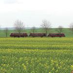 Auf der Museumsbahn im Warnetal - Zwischen dem Gut Lüderode und dem Bahnhof Klein Mahner