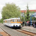 Hier mal ein Bild von der Nachmittagsrunde: Der Sonderzug im Bahnhof Salzgitter Bad