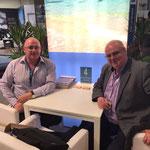 Mr. Tim Dean Smith, left, (Owner of Beach Republic, Koh Samui, Thailand) & Dr. Daniel G. Fuchs, right