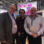 From left to right: Dr. Daniel G. Fuchs, Mr. Vikram ( International Financial Expert) and Mr. Tim Dean Smith (Owner of Beach Republic, Koh Samui, Thailand)