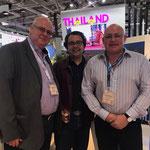 From left to right: Dr. Daniel G. Fuchs, Mr. Vikram ( International Financial Expert) and Mr. Tim Dean Smith (Owner of Beach Republic, Koh Samui, Thailand)