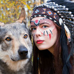Чехословацкий влчак Вольф на фотосессии.