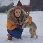 """Айна на съемках проекта """"Пятая стража"""""""