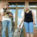 Вальтер с Асти и со своей новой семьей.
