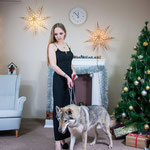 Влчак Грейт Волл на новогодней фотосессии.