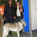 Президент РКФ Иншаков Александр Иванович и Лучший представитель породы АСТИ на выставке Россия 2011г.