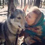 Вольф с Катей Кузнецовой.  Любовь с первого взгляда :)