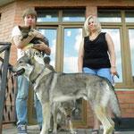 Вальтер с Вольфом и Асти. Малыш уезжает в свою новую семью.