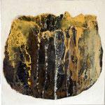 vase coquille jaune - t.m. - 30x30