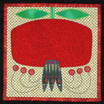 Pomegranate Potholder/Mini-Quilt